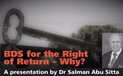 Salman Abu Sitta on BDS for the Right of Return – Why? – Sydney October 9, Redfern Town Hall