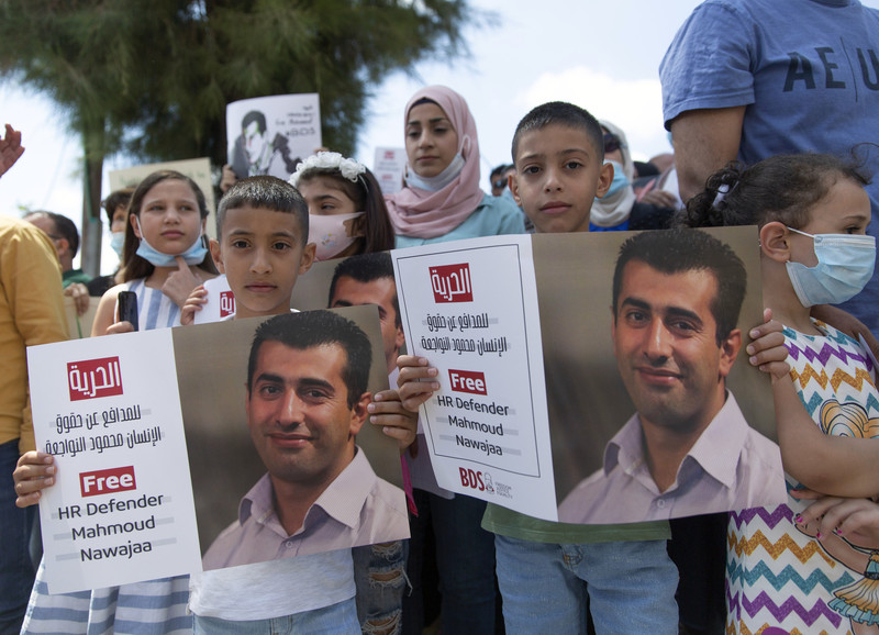 Update: Israel releases human Rights defender and BDS coordinator Mahmoud Nawajaa after international pressure.